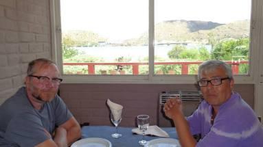 Dr. Carlos Mazzola junto al Dr. Fernando Pablo Napoli en El Potrero de los Funes, San Luis, Argentina.