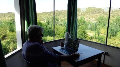 Visita al Dr. Carlos Mazola en su casa de Estancia Grande, Provincia de San Luis, Argentina.