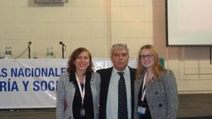 El Dr. Fernando Pablo Napoli junto a la Mg. Milena Ramallo y la Dra. Macarena Perusset