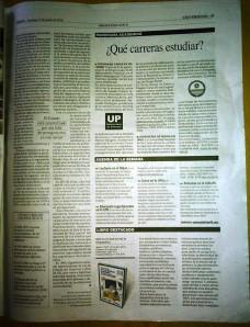 Diario Perfil. Edición Impresa. Domingo 14 de agosto de 2014. Sumplento Universidad, p.47