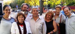 De izquierda a derecha: Esp. Patricia Tilli, Prof. Ana Zapata Alvarez, Lic. Alejandro Izaguirre, Dr. Fernando Nápoli, Lic. Maria de los Ángeles Egozcue, Lic. Mónica Bado y Lic. Gustavo Valsecchi.